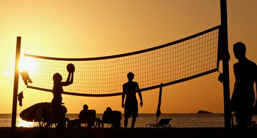 Immagine gratuita di alba, beach volley, crepuscolo, divertimento