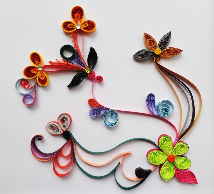 Multicolored Flower Paper Quilt Decor
