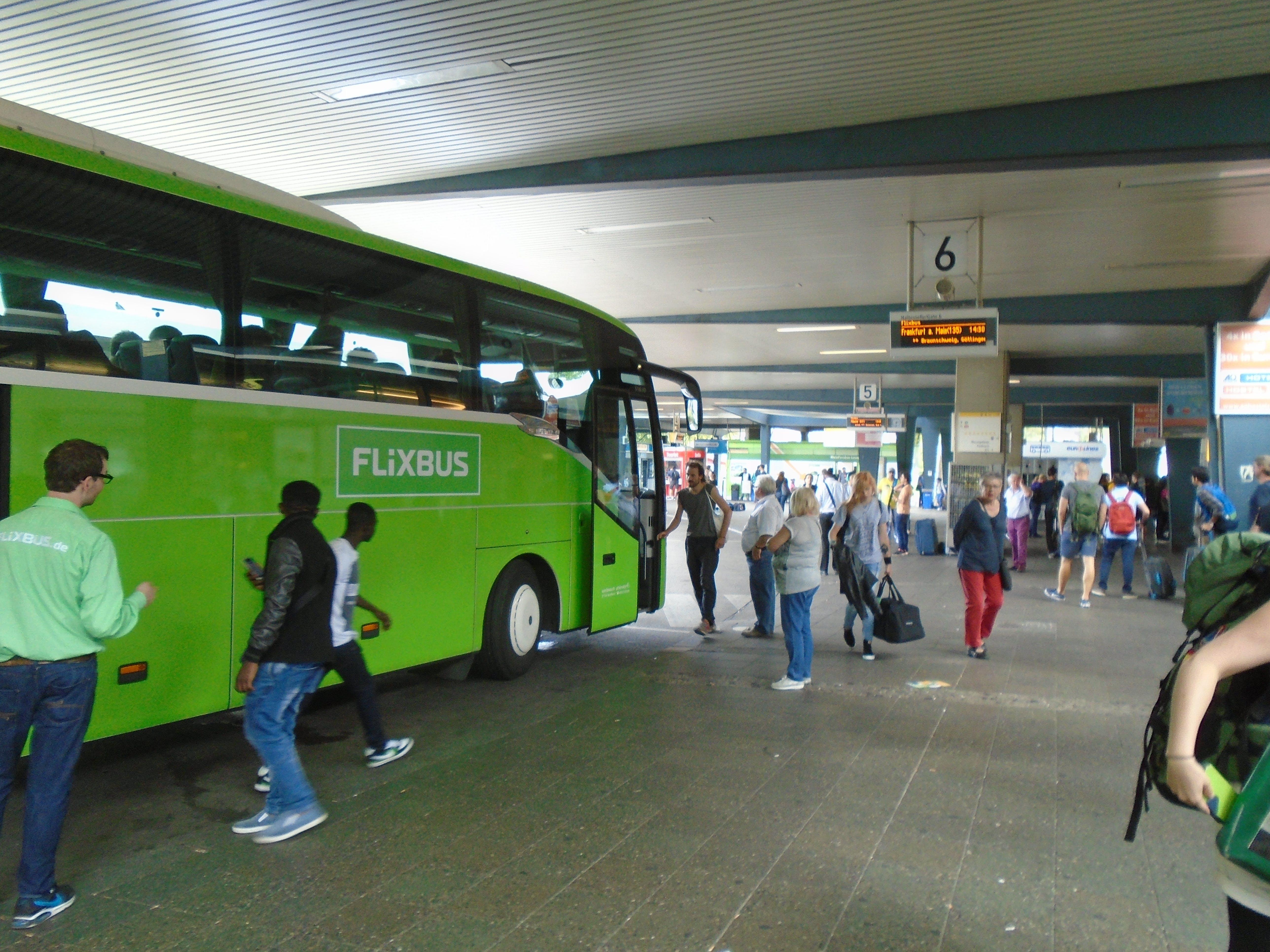 Free stock photo of berlin flixbus, bus, bus station, coach