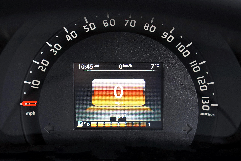 Black Speedometer Displaying 0