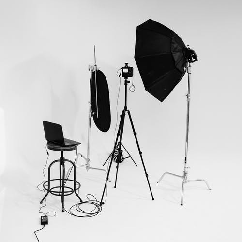 Black and White Photography Studio Setting