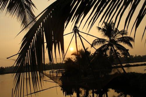 Ingyenes stockfotó chinees net, naplemente, naplemente strand, turisztikai attrakció témában