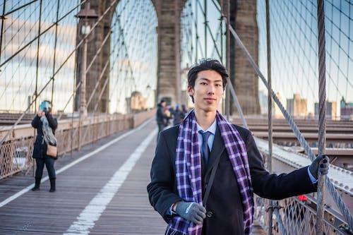 Δωρεάν στοκ φωτογραφιών με brooklyn bridge, nyc, άνδρας, Άνθρωποι