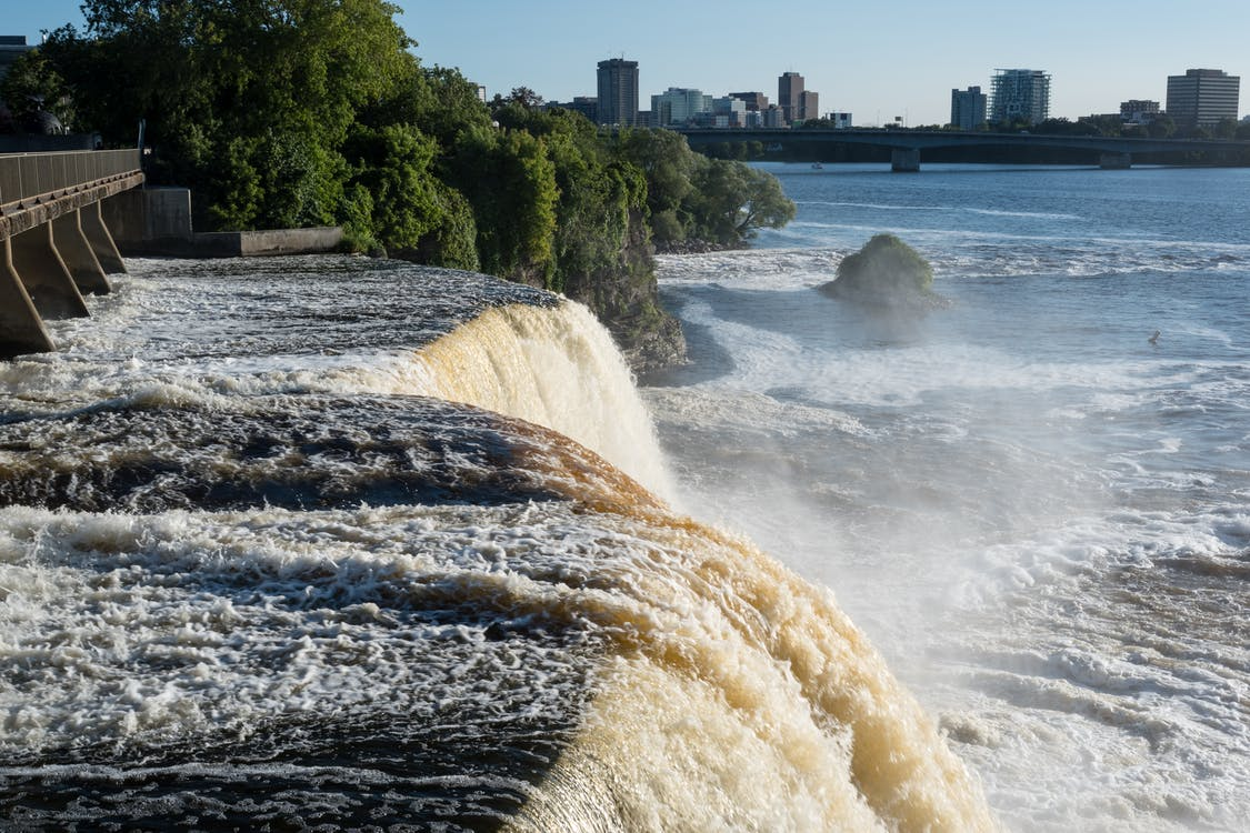 kanada, ottawa, wodospad