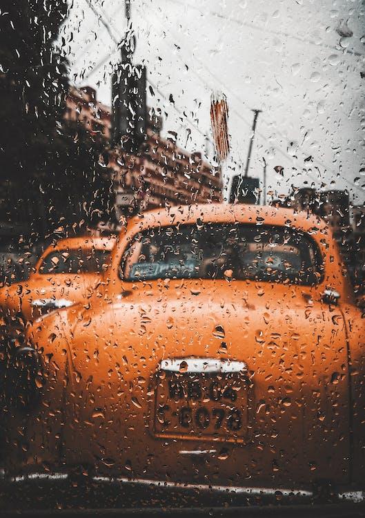 Imagine de stoc gratuită din automobil, culoare portocalie, drum