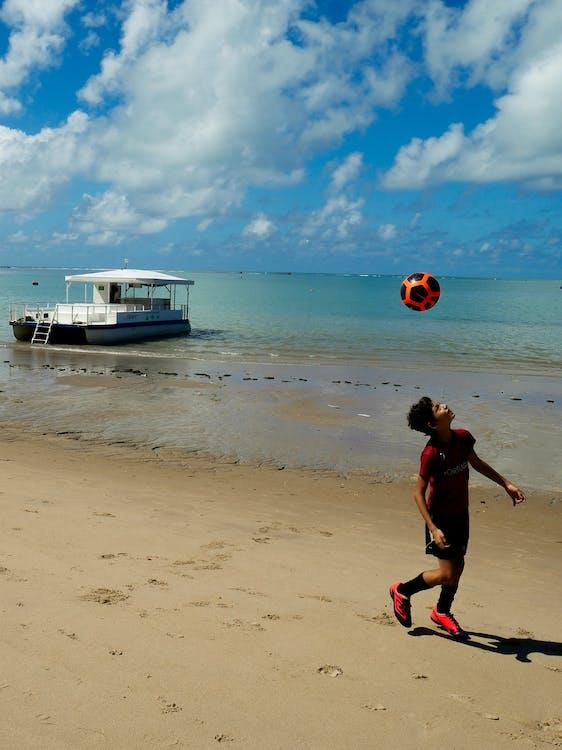 브라질, 축구, 해변