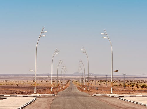 Free stock photo of desert, Middle east, road, straight