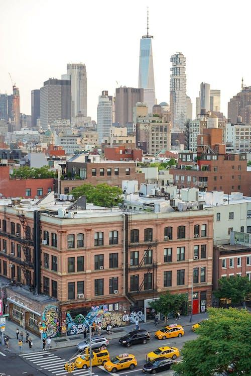 Ảnh lưu trữ miễn phí về một trung tâm thương mại thế giới, Newyork, nyc, taxi màu vàng
