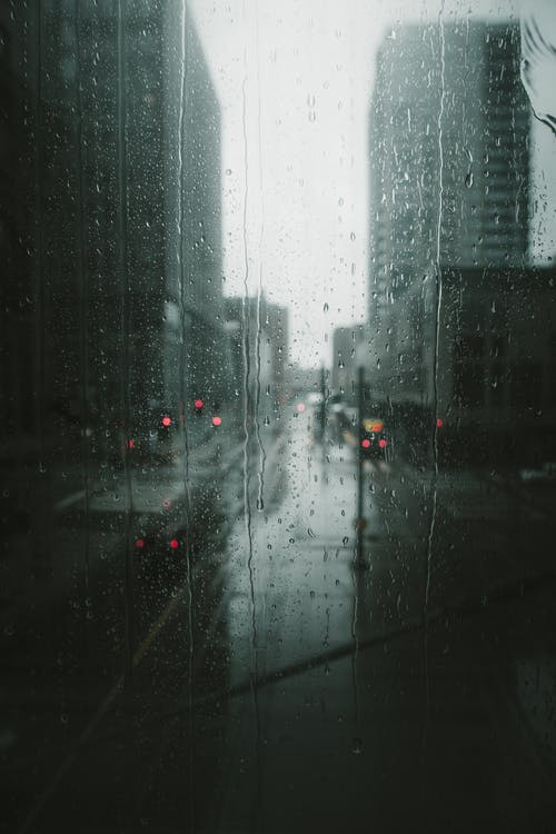 raining in the city