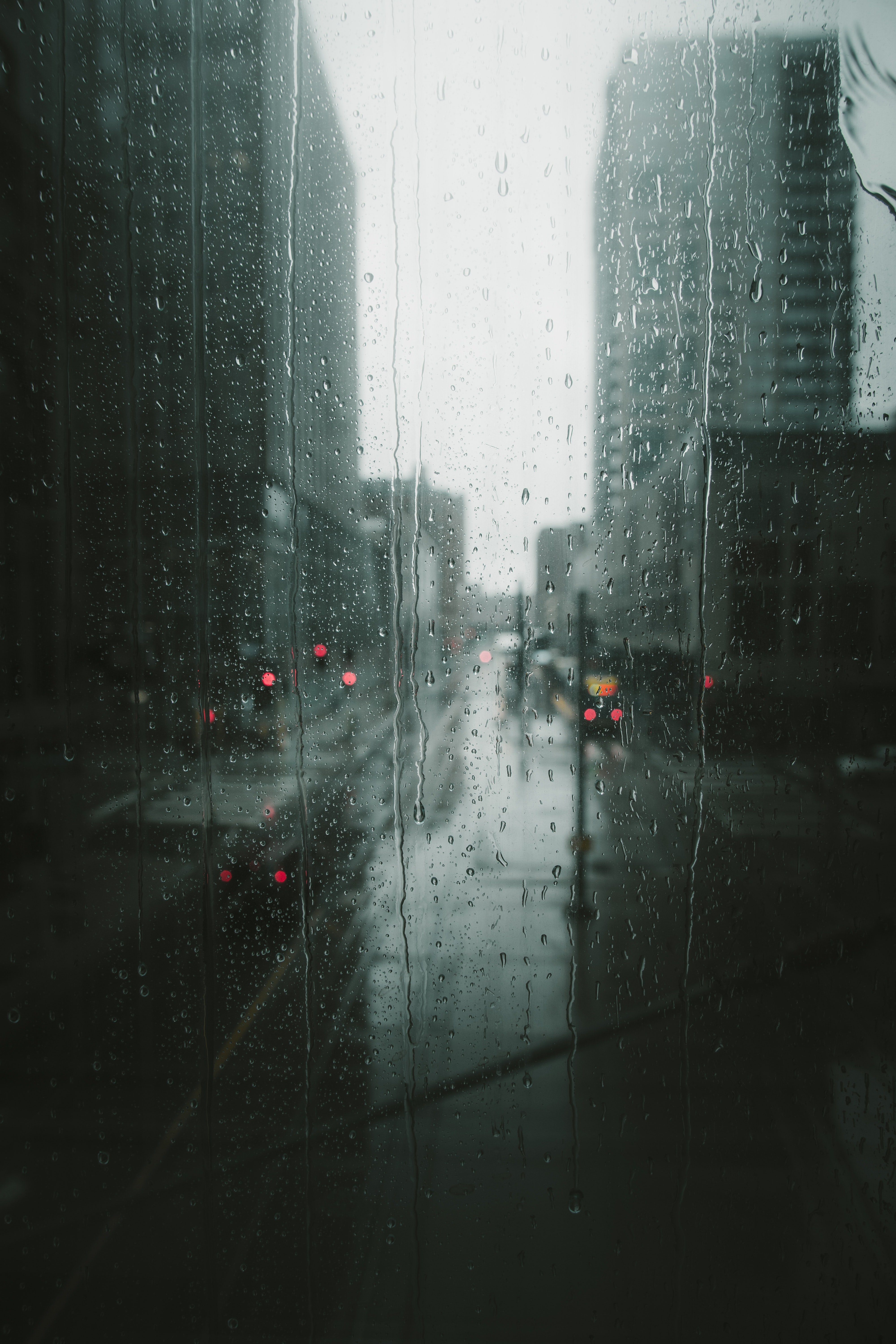 Raining In The City Free Stock Photo