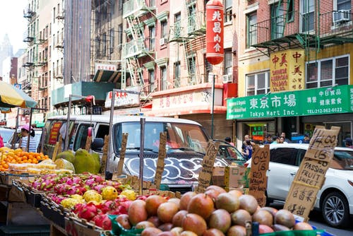Free stock photo of chinatown, fruits, new york, new york city