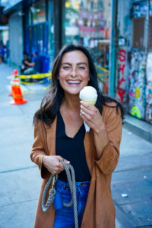 Free stock photo of happy, ice cream, ice cream cone, smiling