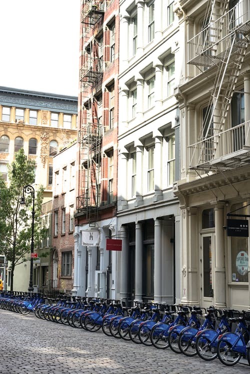 Free stock photo of bikes, buildings, new york, new york city