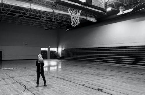Free stock photo of basketball, black and white, challenge, dedication