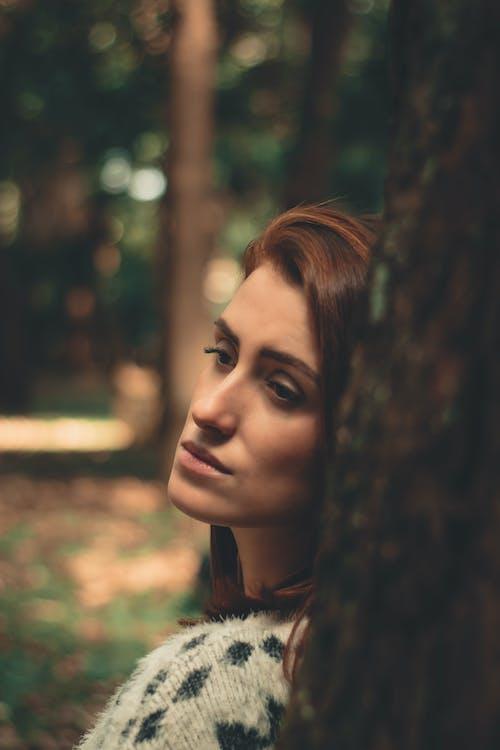 Imagine de stoc gratuită din arbore, buștean, de sex feminin, expresie facială