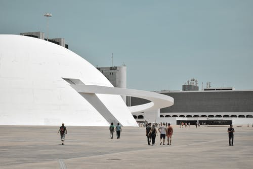 Architectural Photo of a White Futuristic Building