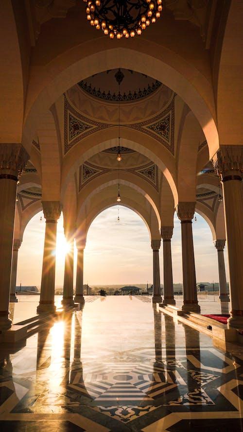 伊斯蘭建築, 內部, 列, 地標 的 免費圖庫相片