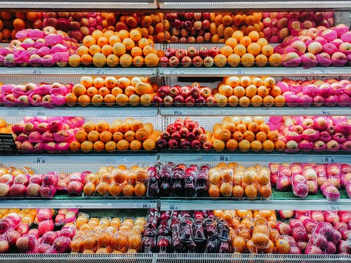 Fruits on Glass-top Display Counter