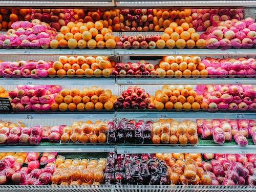 おいしい, オレンジ, スーパーマーケット, バラエティの無料の写真素材