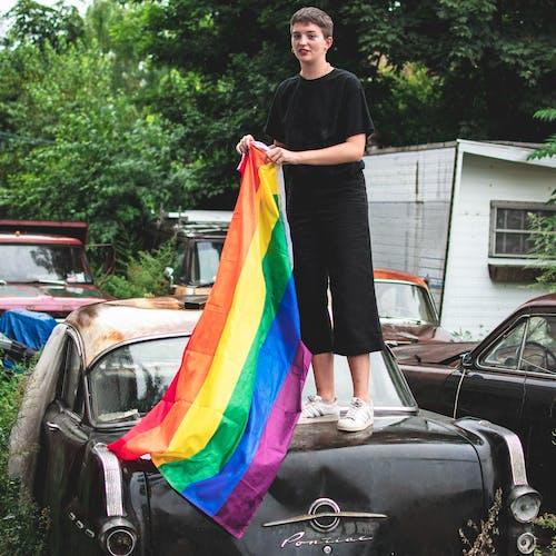 交通系統, 人, 彩虹, 戶外 的 免费素材照片