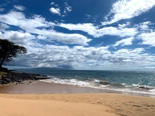 Δωρεάν στοκ φωτογραφιών με παραθαλάσσιος, παραλία, παραλία άμμο, σύννεφο