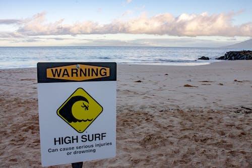 Δωρεάν στοκ φωτογραφιών με ασφάλεια στην παραλία, παραθαλάσσιος, παραλία, πινακίδα
