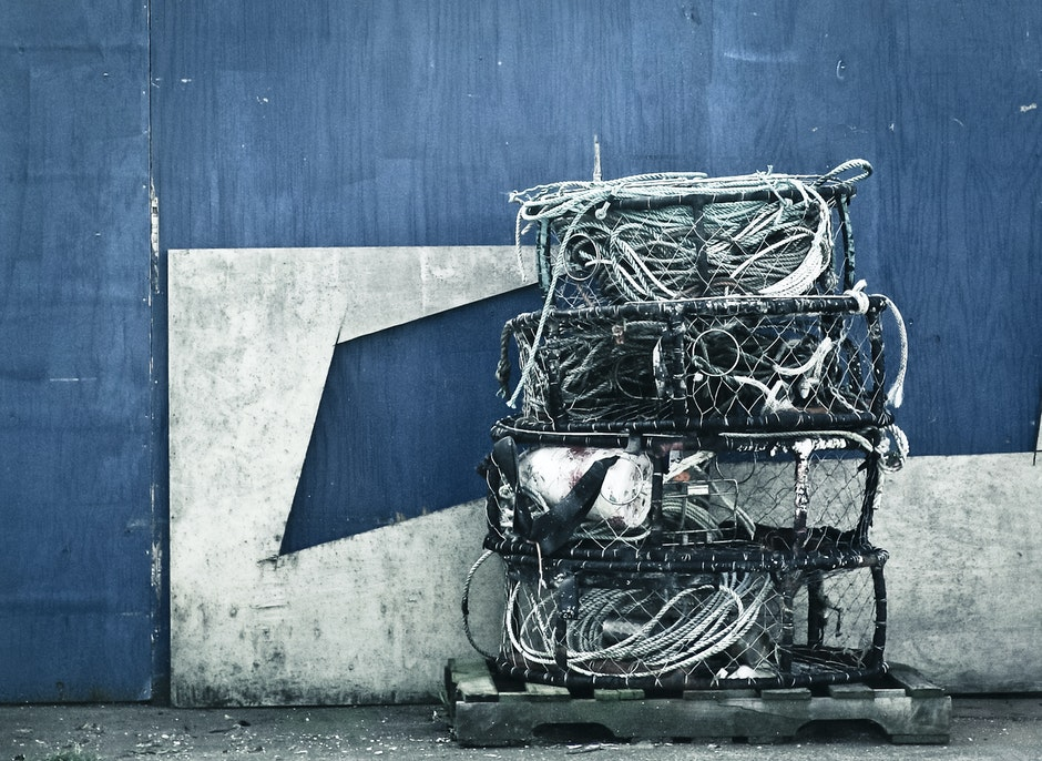 blue, equipment, ropes