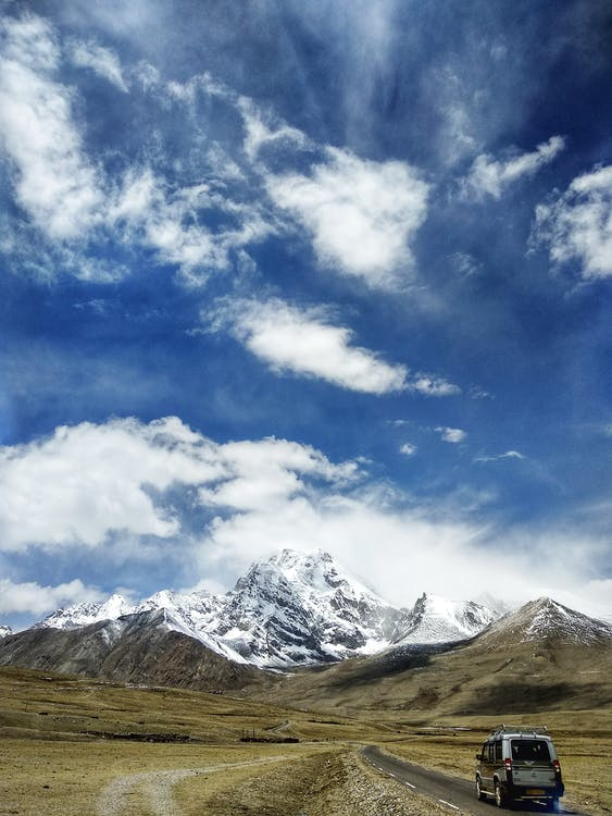 bergen, bergskedja, bergstoppar