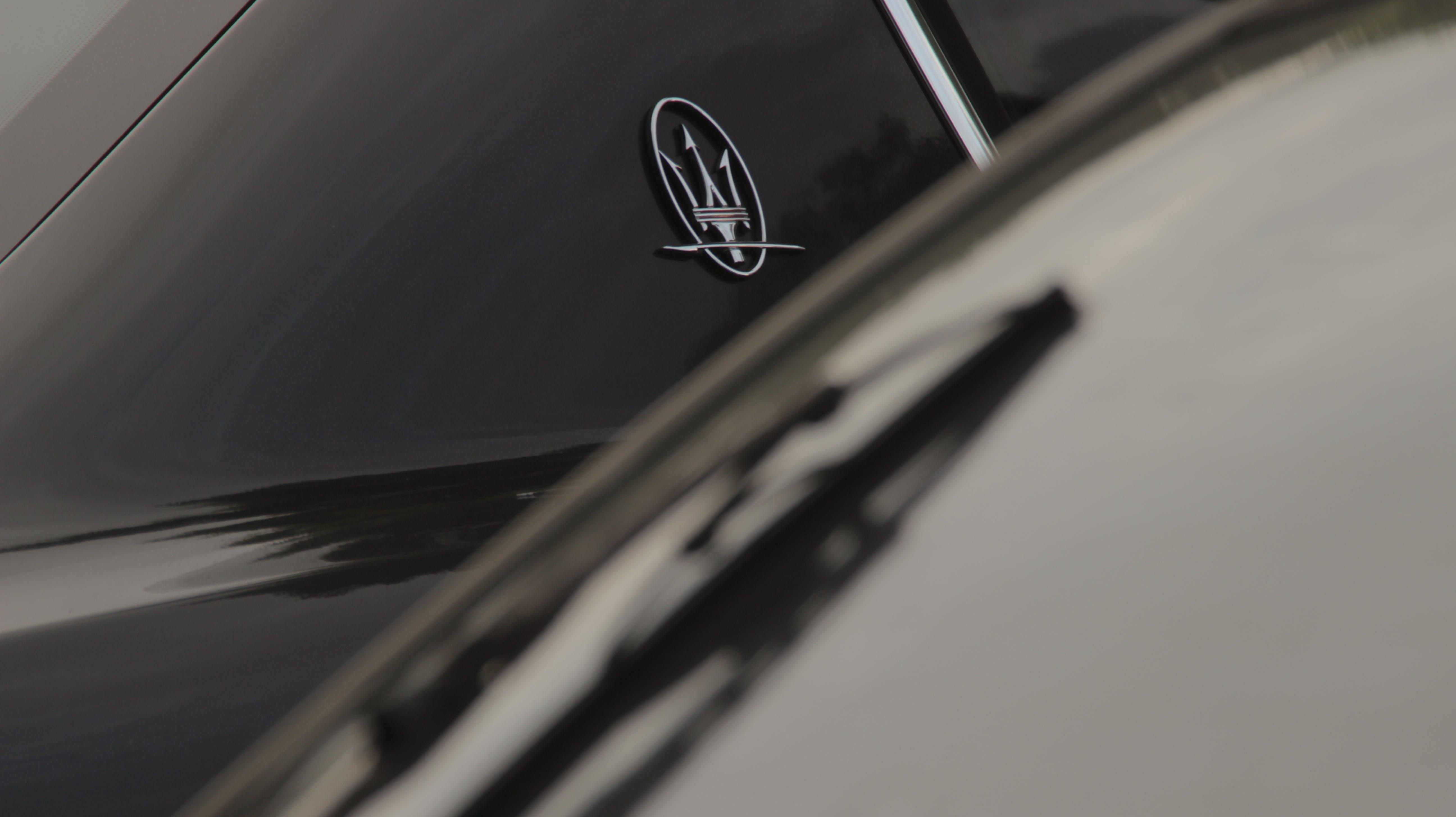 Silver Maserati Emblem