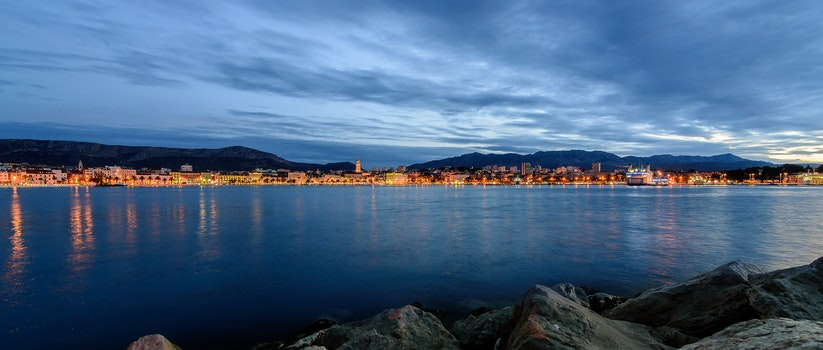 Free stock photo of sea, city, sky, water