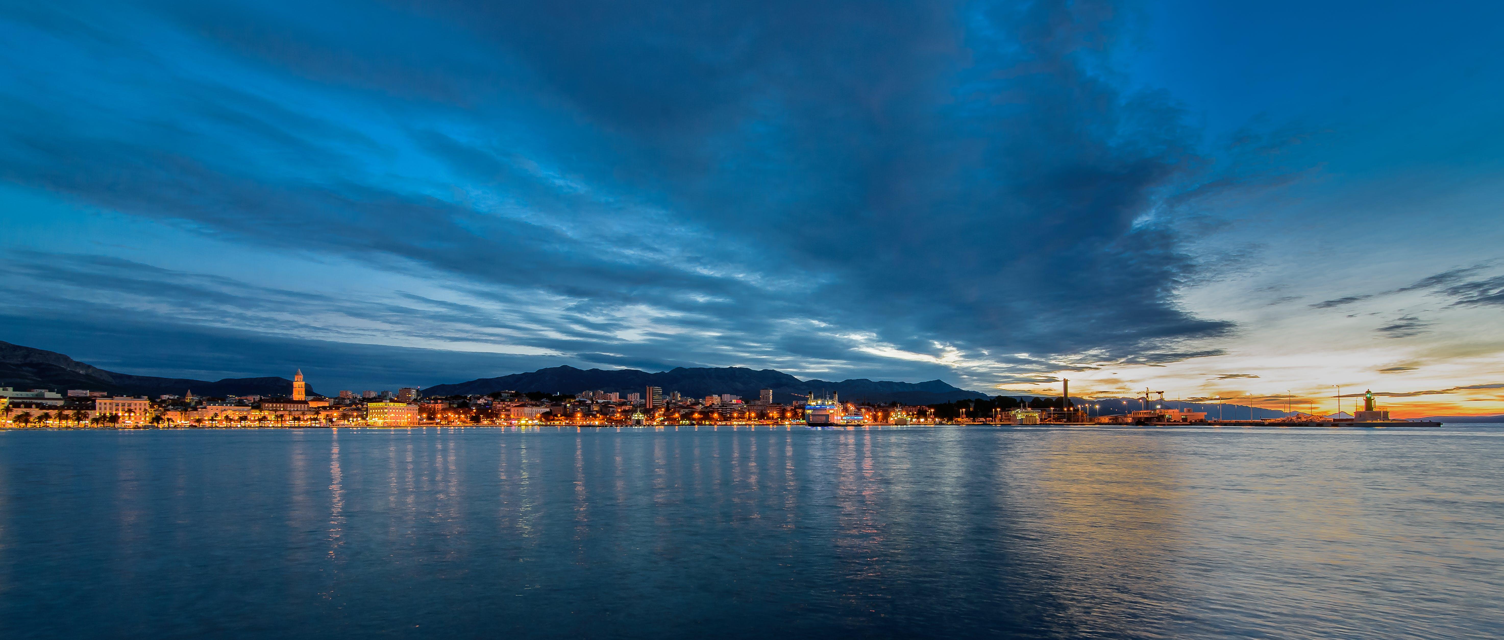 Free stock photo of sunrise, seaside, bluehour, adriatic sea