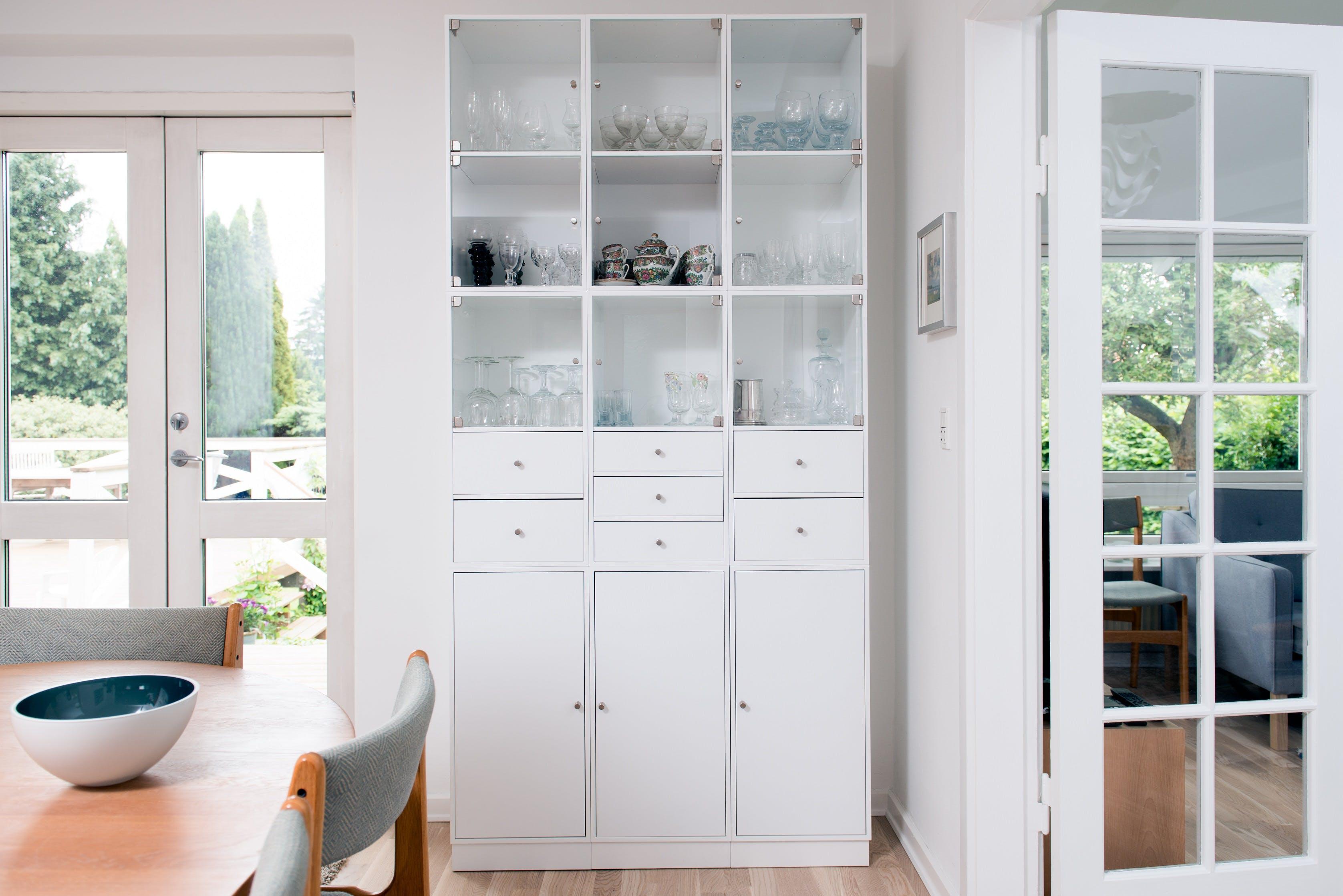 Free stock photo of table, cups, door, home