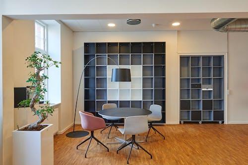 Základová fotografie zdarma na téma architektura, design interiéru, kancelář, knihovna