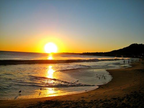 Foto stok gratis lautan, matahari terbenam, musim panas
