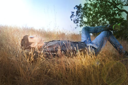 Man Lying on Ground