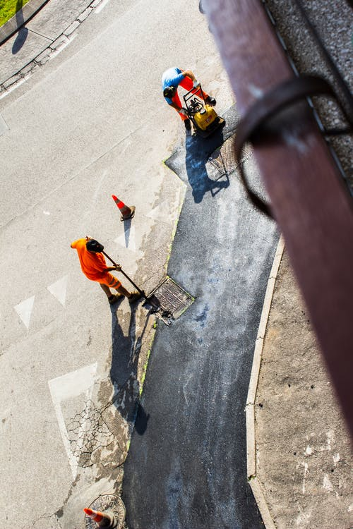 Free stock photo of above, construction workers, from above, urban