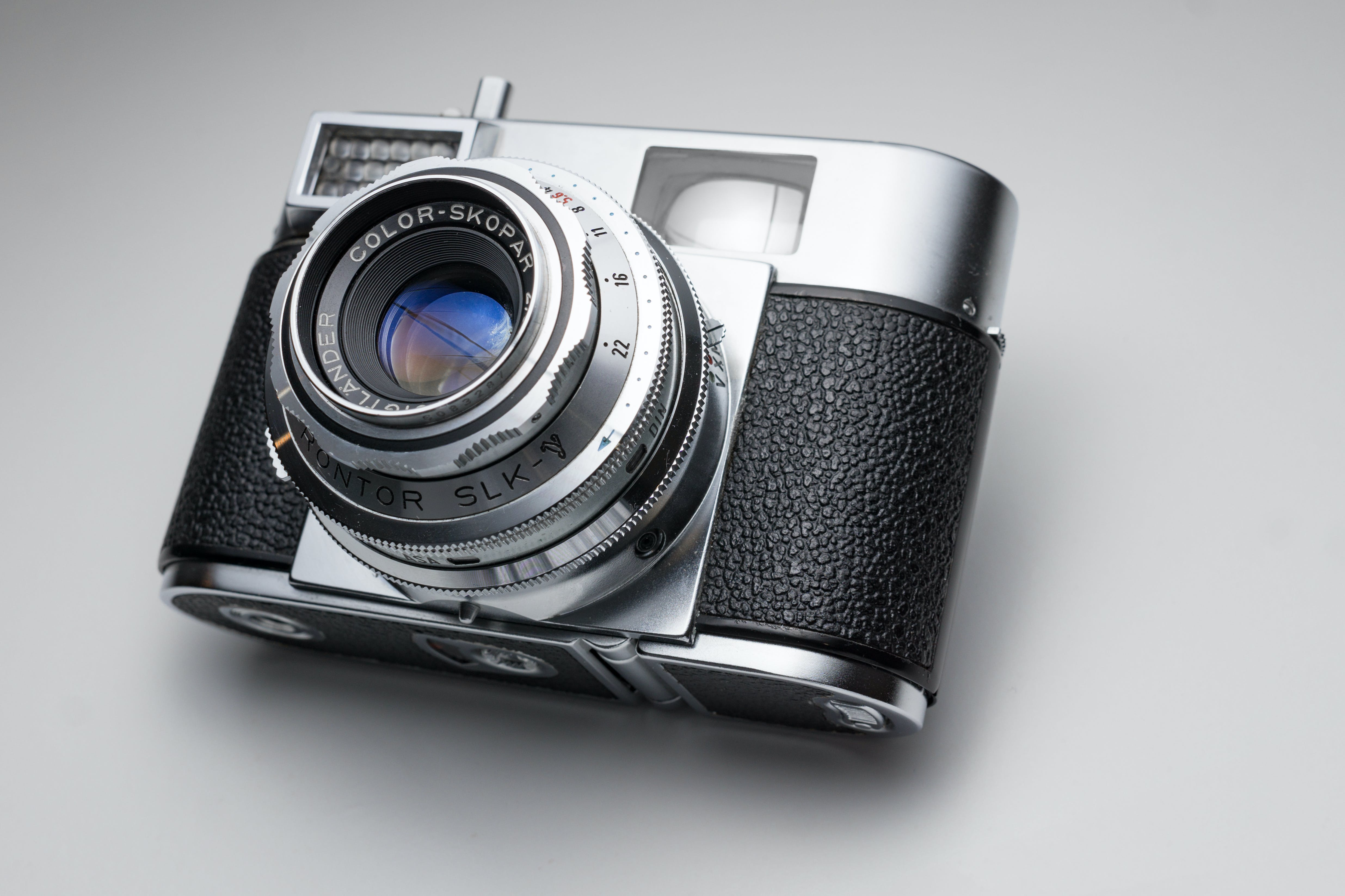 Silver and Black Point-and-shoot Camera