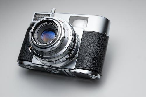 Gratis lagerfoto af analogt kamera, blænde, close-up, elektronik