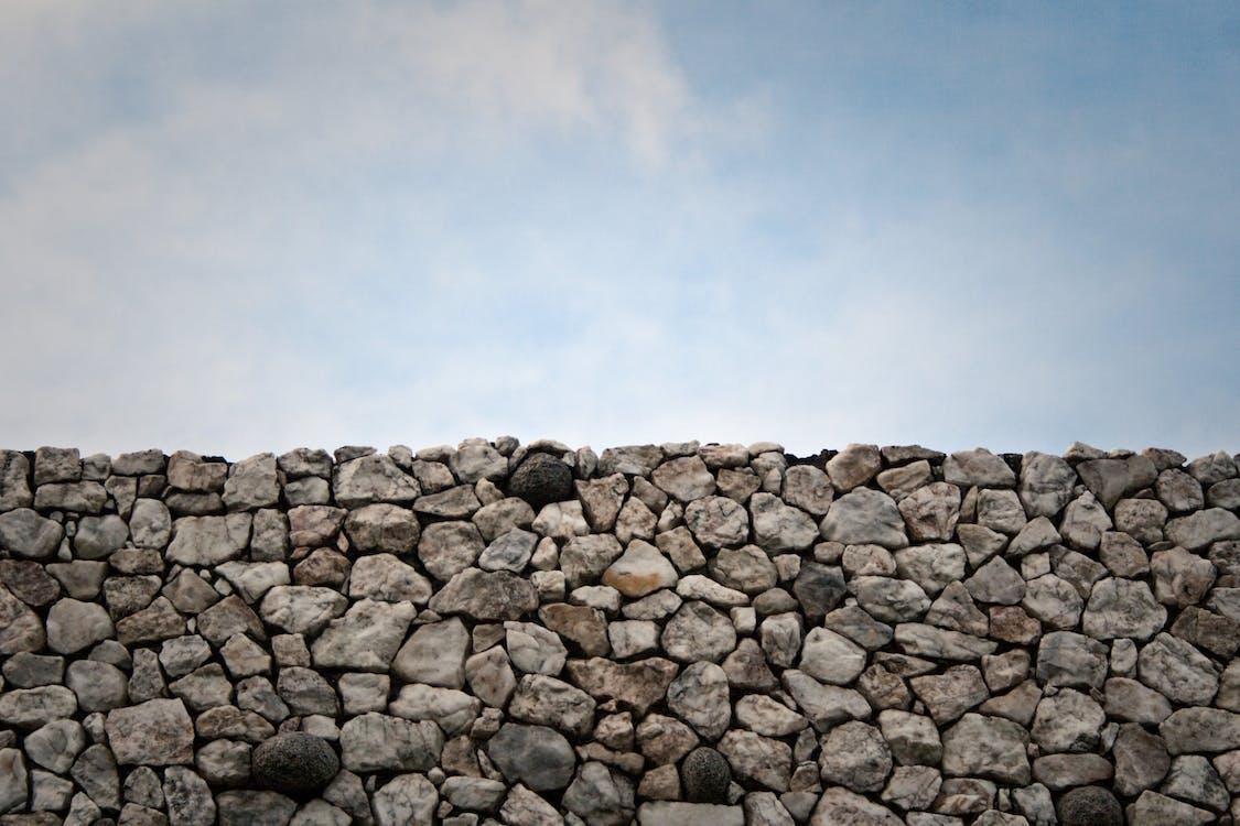 biały, kamień, mur
