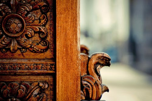 Foto profissional grátis de Antiguidade, de madeira, entalhe, madeira