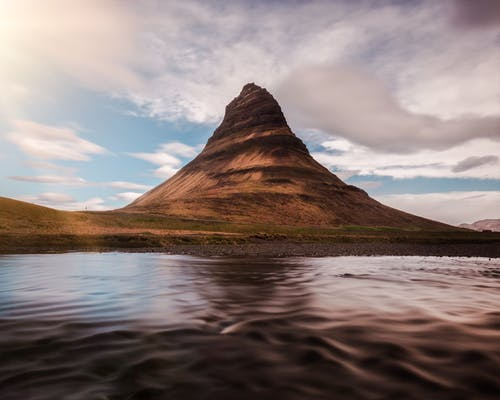 The Kirkjufell mountain in Iceland