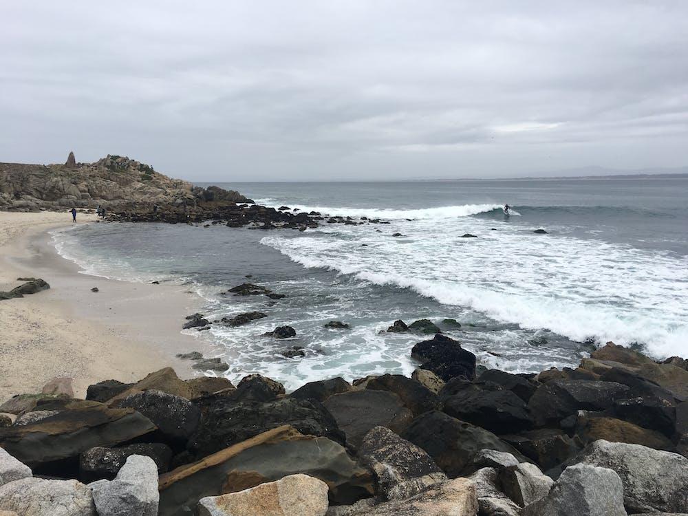 plaża, skały