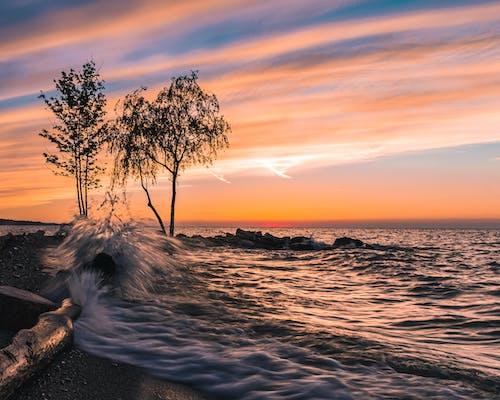 Gratis lagerfoto af bagbelyst, hav, havudsigt, horisont