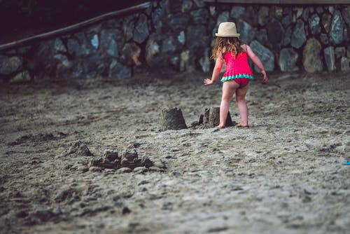 Free stock photo of beach, female, girl, hat