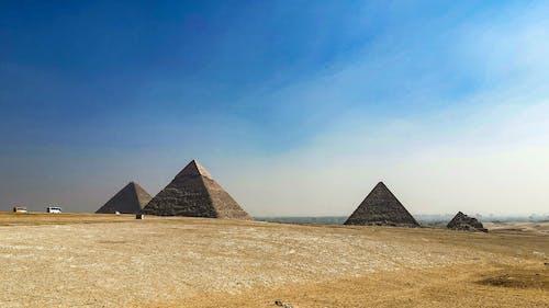 Free stock photo of desert, egypy, pyramids