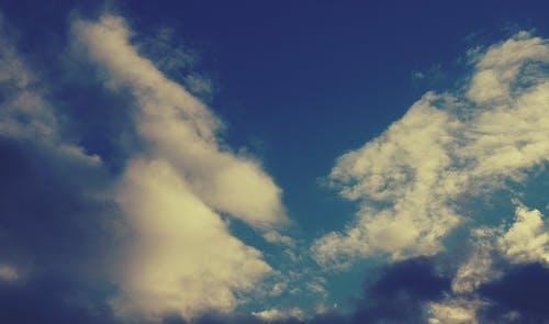 Ilmainen kuvapankkikuva tunnisteilla pilvet, sininen taivas, taivas, valkoiset pilvet