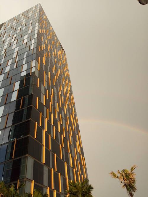 ホームオフィス, 建物, 白い雲, 虹の無料の写真素材