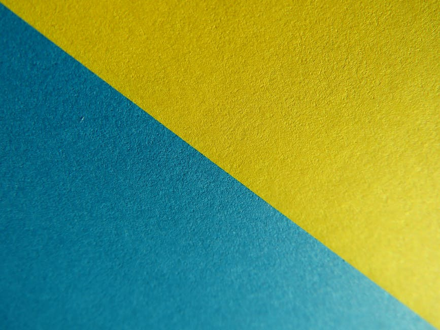 Yellow and blue surface