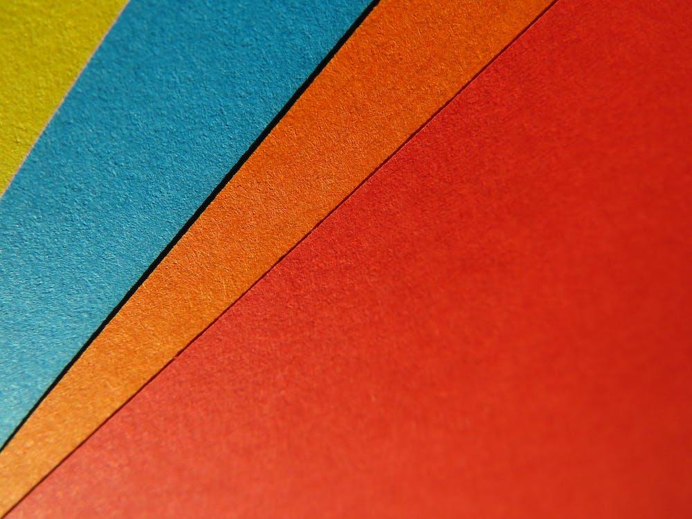 abstraktní, barevný, barvy