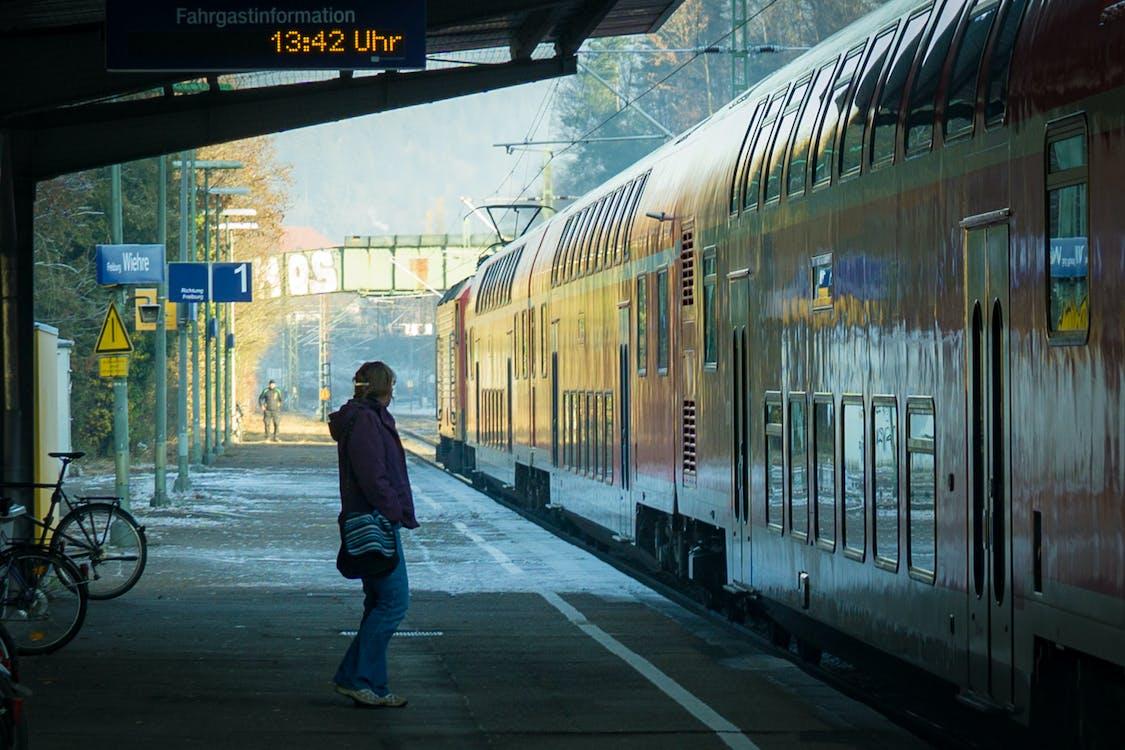 Person Near Train Coaches